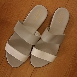 Cole Haan Findra Leather Slides, Size 7.5